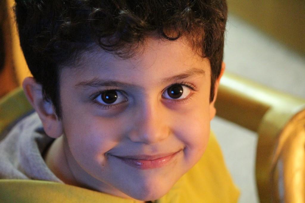笑顔の少年