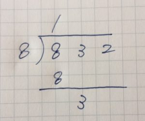 割り算の筆算⑧