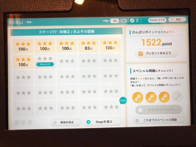 RISU ポイント画面