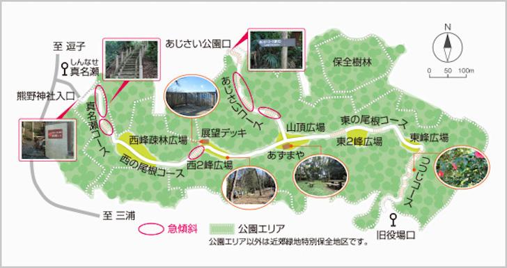 三ヶ岡山マップ