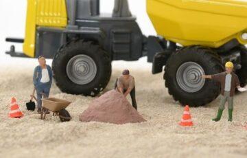 道路工事の様子